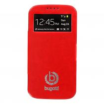 Bugatti Geneva Folio Red pro Samsung i9505 Galaxy S4