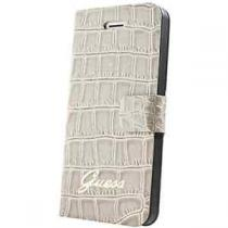 Guess Croco pouzdro flip GUFLHP4CRB Apple iPhone 4/4s béžové