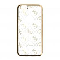 Guess 4G GUHCSETR4GG silikonové pouzdro Apple iPhone 5/5S/SE Gold
