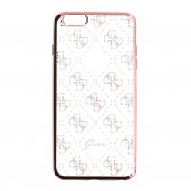 Guess 4G GUHCSETR4GRG silikonové pouzdro Apple iPhone 5/5S/SE Rose Gold