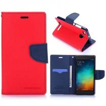 KG pouzdro Wallet Style pro Xiaomi Redmi 3s Red