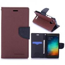 KG pouzdro Wallet Style pro Xiaomi Redmi 3s Brown