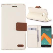 KG pouzdro Wallet Style HTC 10 White