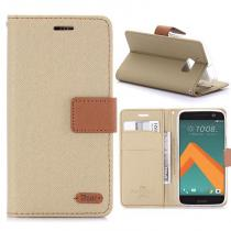 KG pouzdro Wallet Style HTC 10 Khaki