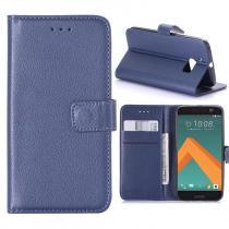 KG pouzdro Wallet Style HTC 10 Dark Blue