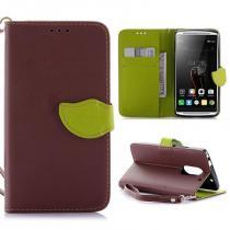 KG pouzdro Wallet Style Lenovo Vibe X3 Brown