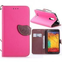 KG pouzdro Wallet Style pro Xiaomi Redmi Note 3/Note 3 Pro Rose Red
