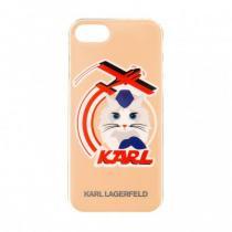 KLHCP7FLYPI Karl Lagerfeld Choupette Stewart TPU Pouzdro Pink pro iPhone 7