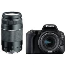 Canon EOS 200D + 18-55 mm DC III + 75-300 mm DC III