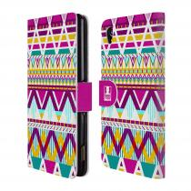 Head Case Designs Flipové Sony Xperia M4 Aqua HEAD CASE AZTEC SUGARED