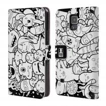 Head Case Designs Flipové Galaxy S5 HEAD CASE DOODLE PŘÍŠERKY A MIMÍCI