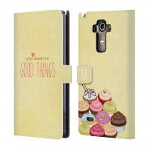 Head Case Designs Flipové LG G4 Stylus HEAD CASE Cupcake good things
