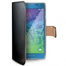 Celly Wally Galaxy A7 PU kůže černé