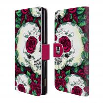 Head Case Designs Flipové Sony Xperia M4 Aqua HEAD CASE FLORID LEBKY RED
