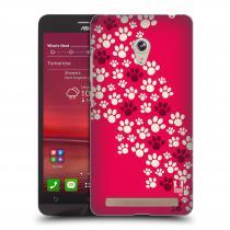 Head Case Designs Asus Zenfone 6 TLAPKY RŮŽOVÉ