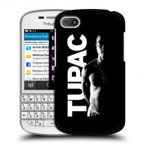 Head Case Designs Blackberry Q10 TUPAC Black and White