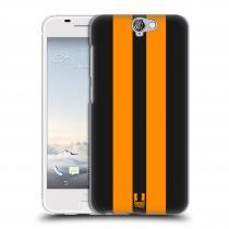 Head Case Designs HTC One A9 ŽLUTÉ A ČERNÉ PRUHY