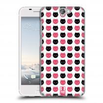 Head Case Designs HTC One A9 KOČKY Black and Pink