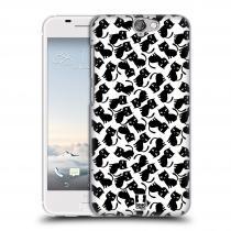 Head Case Designs HTC One A9 KOČKY Black Pattern