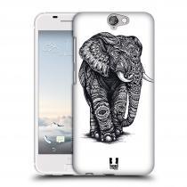 Head Case Designs HTC One A9 Zdobený Slon
