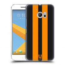 Head Case Designs HTC One 10 - - ŽLUTÉ A ČERNÉ PRUHY