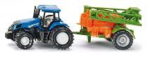 SIKU Super - Traktor s přívěsem na rozprašování hnojiva
