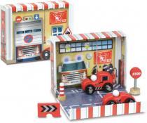 Zábavná Vilac - Box s auty - Hasiči