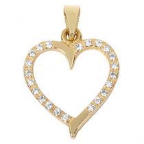 Brilio Zlatý přívěsek Srdce s čirými krystaly 249 001 00462 - 0,90 g