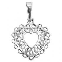 Brilio Silver Stříbrný přívěsek Filigránové srdce 441 001 02024 04 - 1,07 g