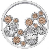 Hot Diamonds Přívěsek Hot Diamonds Emozioni Spirito Libero Freedom Champagne Coin 25 mm