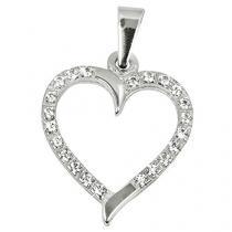 Brilio Zlatý přívěsek Srdce s čirými krystaly 249 001 00462 07 - 0,90 g