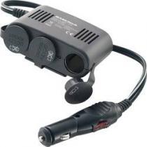 Basetech rozdvojka do autozapalovače s USB 10 A