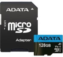 ADATA Micro SDXC Premier 128GB 85MB/s UHS-I A1 - AUSDX128GUICL10A1-RA1