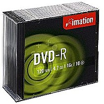 Imation Média DVD-R 4.7GB 16x, Slim box, 10ks