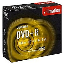 Média DVD+R Imation 4.7GB 16x, LightScribe JC 5 ks