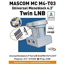 Mascom LNB Monoblock Twin MC M4-T03