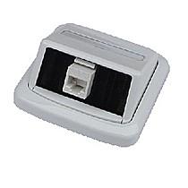 Jednozásuvka ABB TANGO 1xRJ45 cat.6, UTP bílá