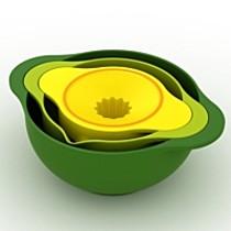 Joseph Joseph Sada plastového nádobí - Nest 3 (mísy a odšťavovač)
