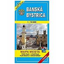 Banská Bystrica Mapa mesta Town plan Stadtplan Plan miasta Várostérkép