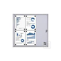 Popisovatelná magnetická vitrína 2x4 A4, interierová