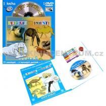 Svět zvířat - Zvířátka na ledovci a na poušti kniha omalovánek