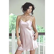 Karen saténová noční košilka světle růžová