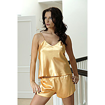 Karen saténové pyžamo zlaté