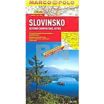 Slovinsko, Severní Chorvatsko, Istrie 1:300 000