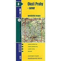 Okolí Prahy - sever 1:100 000