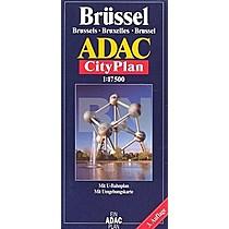 Brüssel Brussels Bruxelles brussel ADAC City Plan 1: 17 500