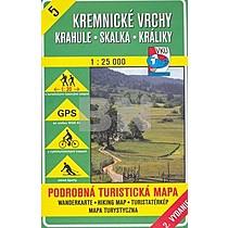 Kremnické vrchy Krahule, Skalka, Králiky 1 : 25 000