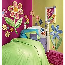 Samolepící dekorace Hedvábné květiny