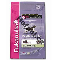 Eukanuba Puppy and Junior Lamb and Rice 1kg