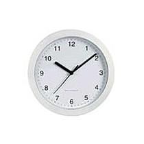 Hodiny DCF nástěnné hodiny, bílé
